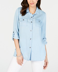 Charter Club Petite Utility Shirt, Created for Macy's