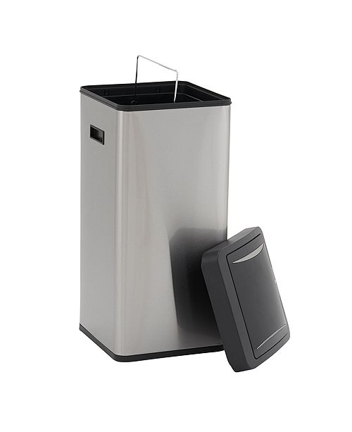 Household Essentials Stainless Steel 30L Harbour Square Trash Can