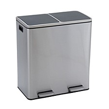 Stainless Steel 30L Maxwell Recycle and Trash Step Bin