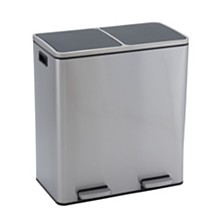 Household Essentials Stainless Steel 30L Maxwell Recycle and Trash Step Bin