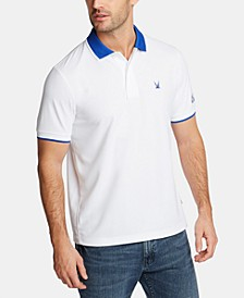 Nautica Men's Blue Sail Classic-Fit Moisture-Wicking Logo Polo, Created for Macy's