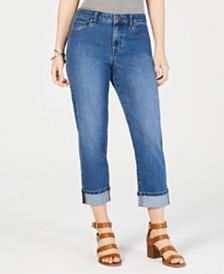 dbd906f78cad7 Style   Co Curvy-Fit Capri Jeans