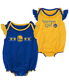 Outerstuff Golden State Warriors Creepers 2 Pack Set, Infants (0-9 Months)