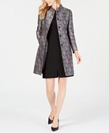 Anne Klein Jacquard Jacket & Crepe Split-Front Dress
