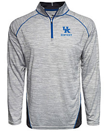 J America Men's Kentucky Wildcats Pencil Jersey Quarter-Zip Pullover