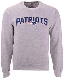 Authentic NFL Apparel Men's New England Patriots Gunslinger Crew Neck Sweatshirt