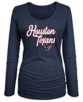 5th   Ocean Women s Houston Texans Long Sleeve Triblend Foil T-Shirt 0a1bad472