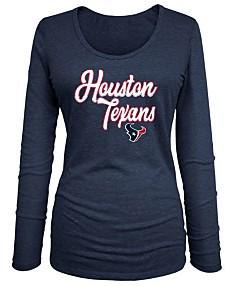 d998daa1 Houston Texans Sport Fan T-Shirts, Tank Tops, Jerseys For Women - Macy's
