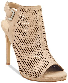 GUESS Women's Aubria Perforated Dress Sandals