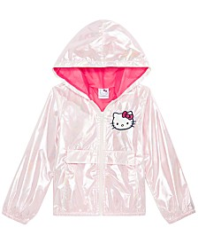 Hello Kitty Toddler Girls Hooded Iridescent Jacket