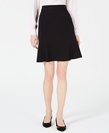 Bar III Ruffle-Hem Skirt, Created for Macy's