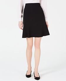Bar III Ruffle-Hem Skirt, Created for Macy's