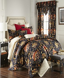 Midnight Bloom Duvet Cover Set-California King