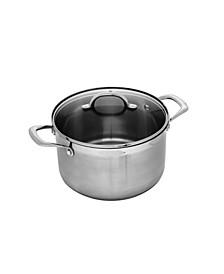 "Premium Steel Stock Pot with Lid - 9.5"" , 7.6 QT."