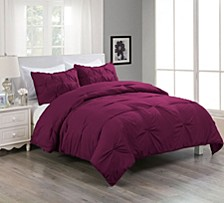 Pintuck Comforter Mini Set With Water and Stain Resistance