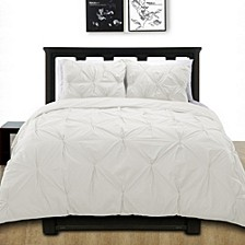 Cottonesque 100% Cotton Pintuck Duvet Cover Mini Set