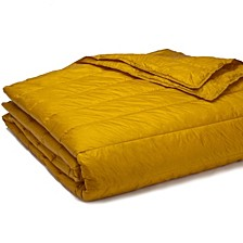 PUFF Packable Down Alternative Indoor/Outdoor Water Resistant Blanket with Extra Strong Nylon Cover