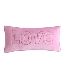 Home Gianna Pink Love Applique Pillow