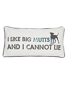 "Levtex Home I Like Big Mutts 12"" x 24"" Pillow"