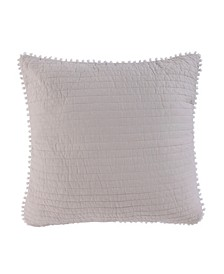 Home Taupe Ruched Euro Sham - Unfilled