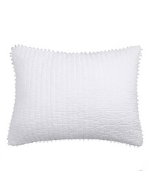 Levtex Home Pom Pom White Standard Sham