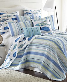 Catalina Coastal Print Reversible Twin Quilt Set