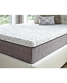 "14"" Comfort Loft Gray Rose with Ebonite Twin Xlong Memory Foam and Comfort Choice, Firm"