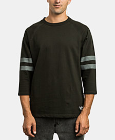 RVCA Men's Stripe Sleeve Shirt