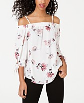 e97725ba8450f BCX Juniors  Printed Off-The-Shoulder Blouse
