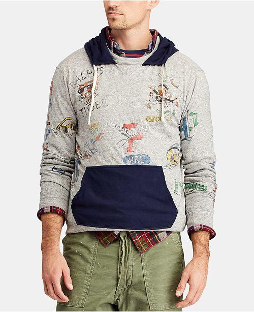 Polo Ralph Lauren Men's Jersey Graphic Hoodie