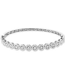EFFY® Diamond (3/4 ct. t.w.) Bangle Bracelet in 14k White Gold