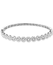 EFFY® Diamond (3/4 ct. t.w.) Bangle Bracelet in 14k White Gold