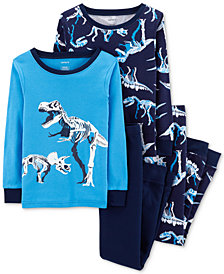 Carter's Little Boys 4-Pc. Dino Graphic Cotton Pajamas Set