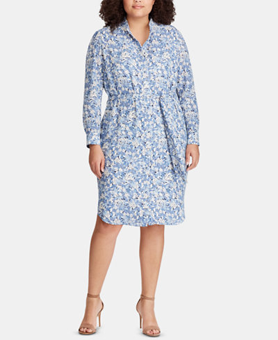 Lauren Ralph Lauren Plus Size Floral-Print Georgette Dress