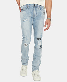 Buffalo David Bitton Men's Max-X Skinny Fit Distressed Jeans