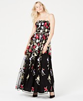 9d8b7c33c8 City Studios Juniors  Embroidered Strapless Gown