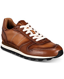COACH Men's C118 Burnished Leather Sneakers