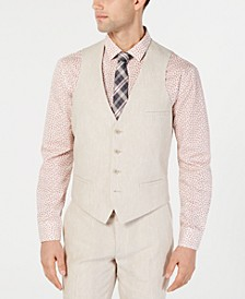 Men's Slim-Fit Linen Suit Vest, Created for Macy's