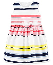 Carter's Baby Girls Striped Sateen Dress