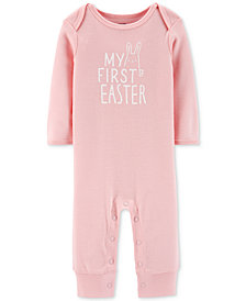 Carter's Baby Girls My First Easter Cotton Coverall