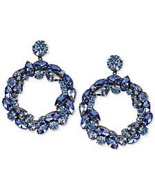Deepa Crystal Drop Hoop Earrings