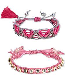Deepa 2-Pc. Crystal & Bead Friendship Slider Bracelet Set
