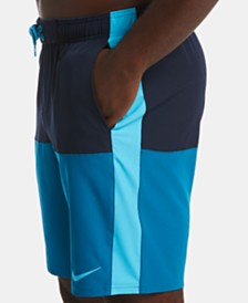 "Nike Men's Split Colorblocked 9"" Swim Trunks"