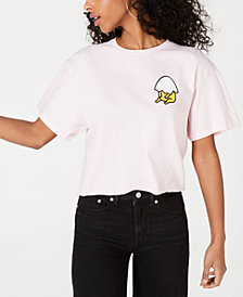 Mighty Fine Juniors' Cotton Gudetama Printed T-Shirt