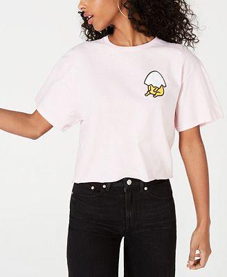 Mighty Fine Juniors' Cotton Gudetama Printed T-Shirt