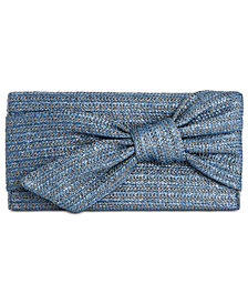 I.N.C. Bowah Hands Through Straw Clutch, Created for Macy's