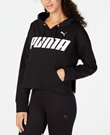 Puma Modern Sports Cotton Cropped Hoodie