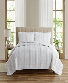Seersucker 3 Piece Quilt Sets