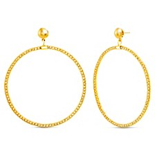 Extra Large Hoop Post Earrings