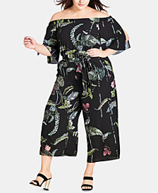 City Chic Trendy Plus Size Lily Pad Jumpsuit